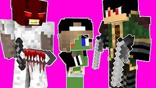 Monster School Kids Mobs:  PIRATE BATTLE CHALLENGE VS GRANNY - Minecraft Animation