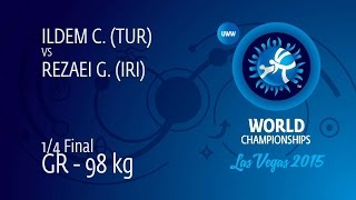 1/4 GR - 98 kg: G. REZAEI (IRI) df. C. ILDEM (TUR), 4-0
