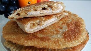 Сытные лепёшки с мясом и грибами // Простое тесто без дрожжей