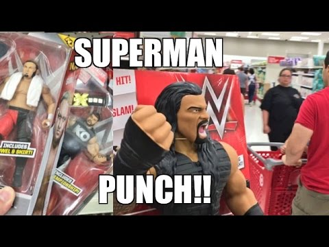 WWE ELITE 43 WRESTLING FIGURES at WALMART! ROMAN FINISHES SHOPPER W/ SUPERMAN PUNCH!