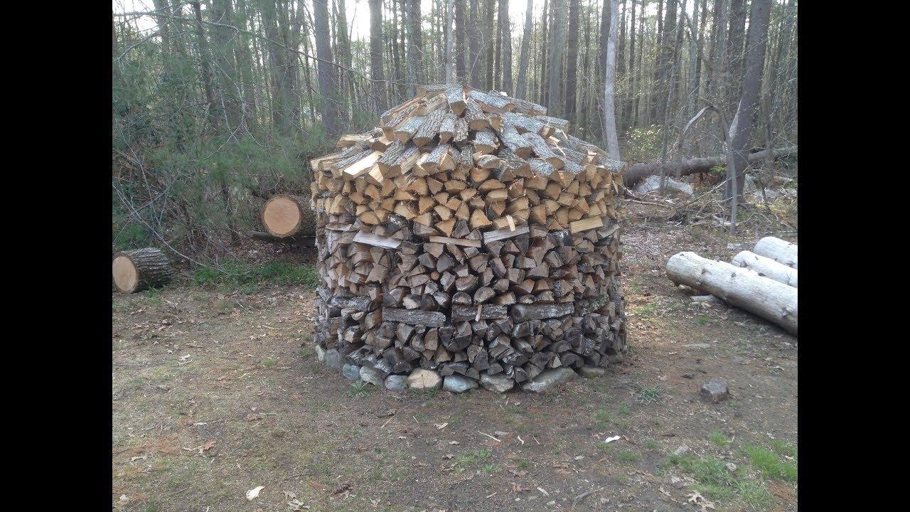 The Holzhausen Holzmiete Round Woodpile Youtube
