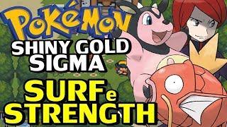 Pokémon Shiny Gold Sigma (Detonado - Parte 9) - HM Surf, Strength e Kimono Girls!