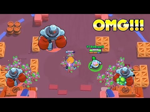 OMG!!! THREE SIGE BOTS!!! || BRAWL STARS FUNNY MOMENTS & FAILS & WINS & GLITCHES #10