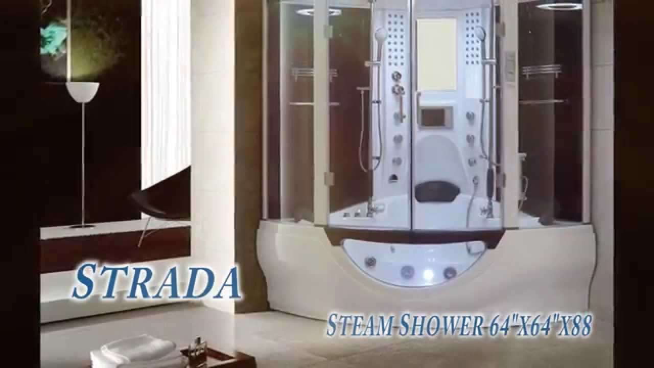 Superior 2014 Strada Steam Shower Whirlpool Tub   YouTube