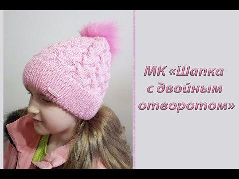 Зимние шапки вязаные спицами для девочек