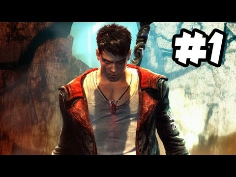DMC Devil May Cry - Walkthrough Gameplay - Part 1 - NAKED ANGELS, ANGRY DEMONS (Xbox 360/PS3/PC HD)