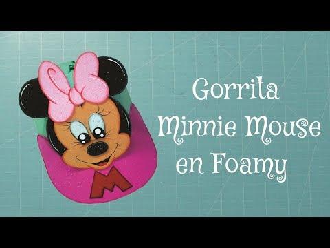 Minnie Mouse Gorra en Foami, Goma Eva, Microporoso (3ra Parte ...