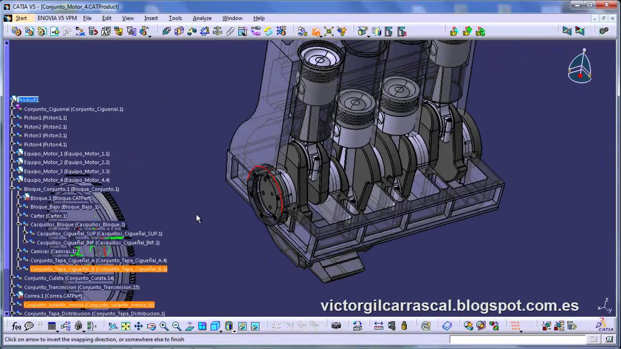 Engine Design And Assembly With Catia V5 Blog Of Victor Gil Youtube