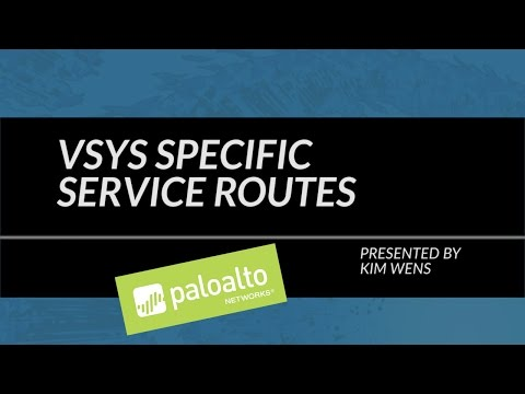 Tutorial: VSYS Specific Service Routes
