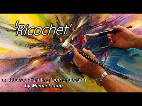 Abstract Painting Techniques How to Demo Under painting, Washes, Layering