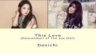 Gambar cover [Rom/Han/Eng] Davichi - This Love (Descendant of the Sun Ost) Lyrics