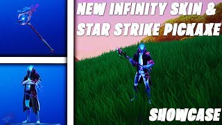 Fortnite New Infinity Skin & Star Strike Pickaxe Gameplay (Showcase) ! (Star Walker Skin) | Season X