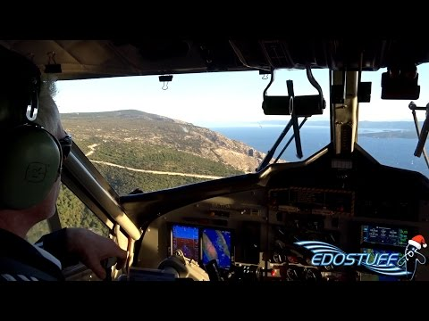 European Coastal Airlines DHC-6-300 - Full Flight with Cockpit Views - Resnik to Jelsa FULL HD