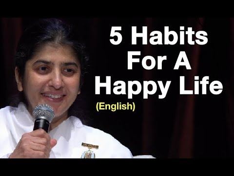 5 Habits For A Happy Life: BK Shivani At Sydney (English)