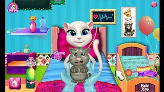 Talking Angela and the birth of a small kitten Talking Tom