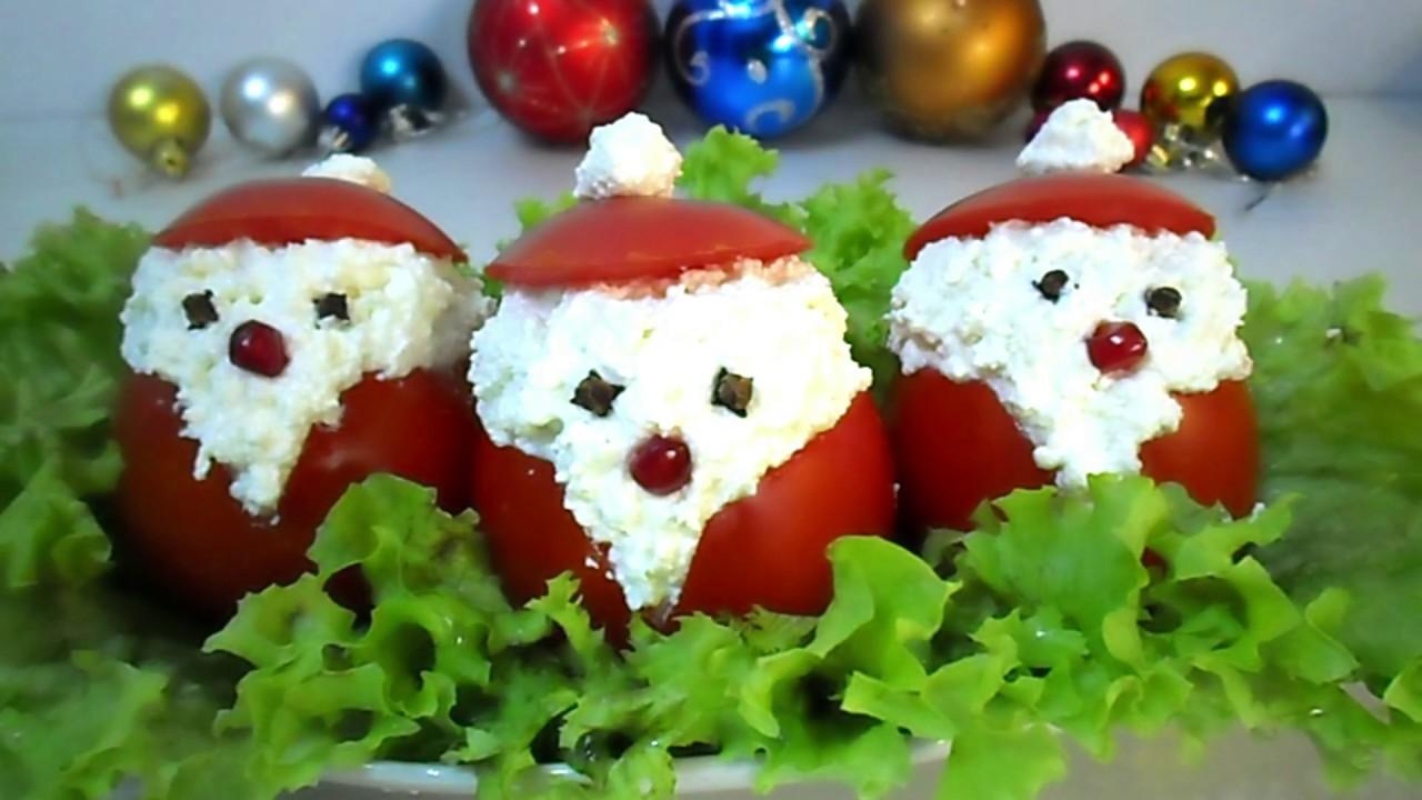 Дед Мороз из Помидора | Красивая Закуска на Новый Год