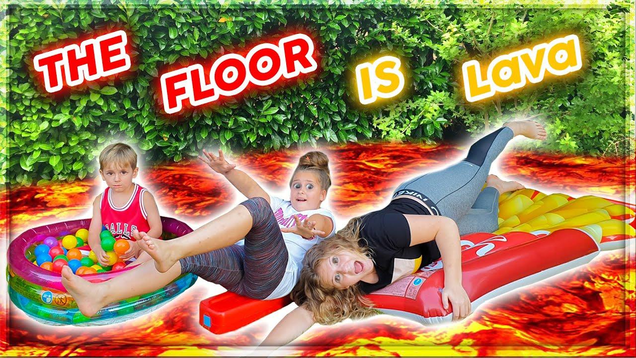 The Floor Is Lava Challenge |  Le Sol C'est De La Lave !