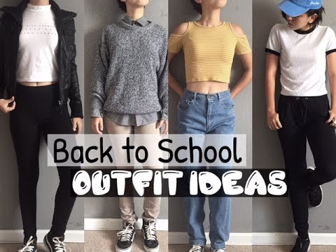 BACK TO SCHOOL OUTFIT IDEAS // Dress code approved! - YouTube