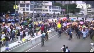 VTC14_40 người biểu tình ở Hồng Kông bị bắt