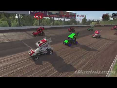 First Iracing Win - 305 Sprint Car, Fixed Setup - Eldora Speedway 1-22-20