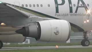 Top 10 Airlines - Pakistan International Airlines a310 takeoff at Leeds Bradford Airport