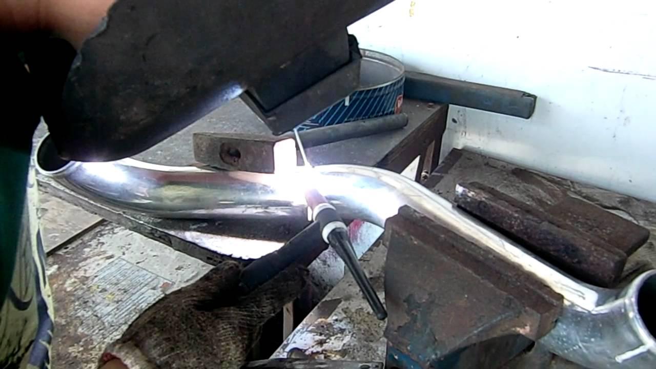 S13 SR20DET TIG welding intercooler pipe (10Apr2012)