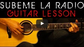 SUBEME LA RADIO - Enrique Iglesias Easy Acoustic Guitar Tutorial Lesson Cover + Chords Lyrics