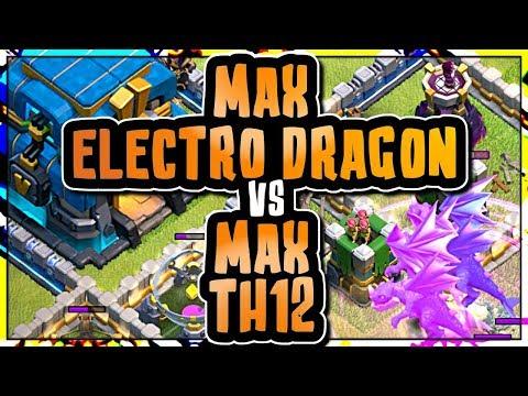 MASS MAX ELECTRO DRAGON ATTACK vs MAX TOWN HALL 12 BASE | Clash of Clans