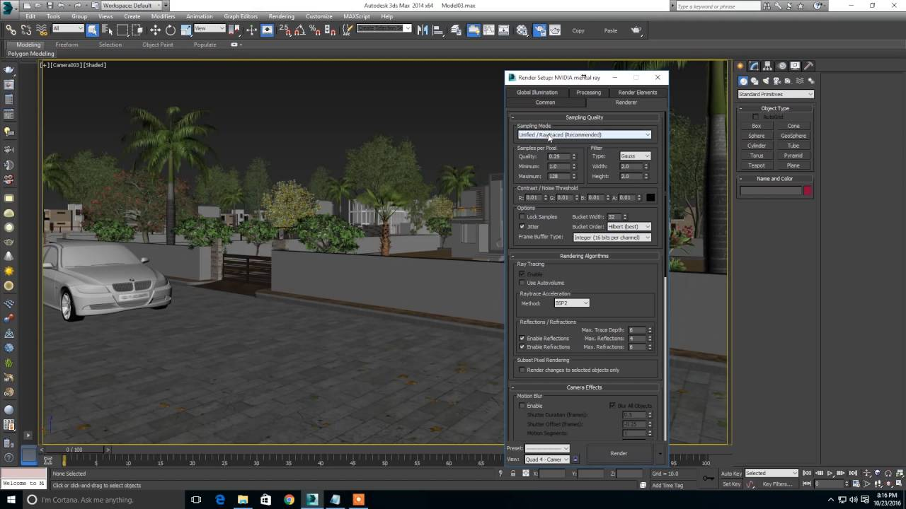 mental ray render setting for 3ds max