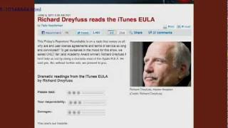 Richard Dreyfuss Reads the iTunes EULA