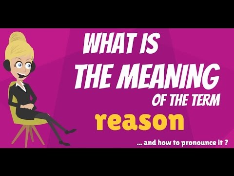 What is REASON? What does REASON mean? REASON meaning ...
