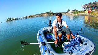 Taking my Raft out Fishing in the Saltwater