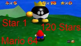 Super Mario 64 - Big Bob-omb on the Summit - Star 1/120 - User video