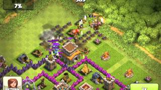 Clash of clans - TownHall attacked failure, also my mortar level 6 doing its job!