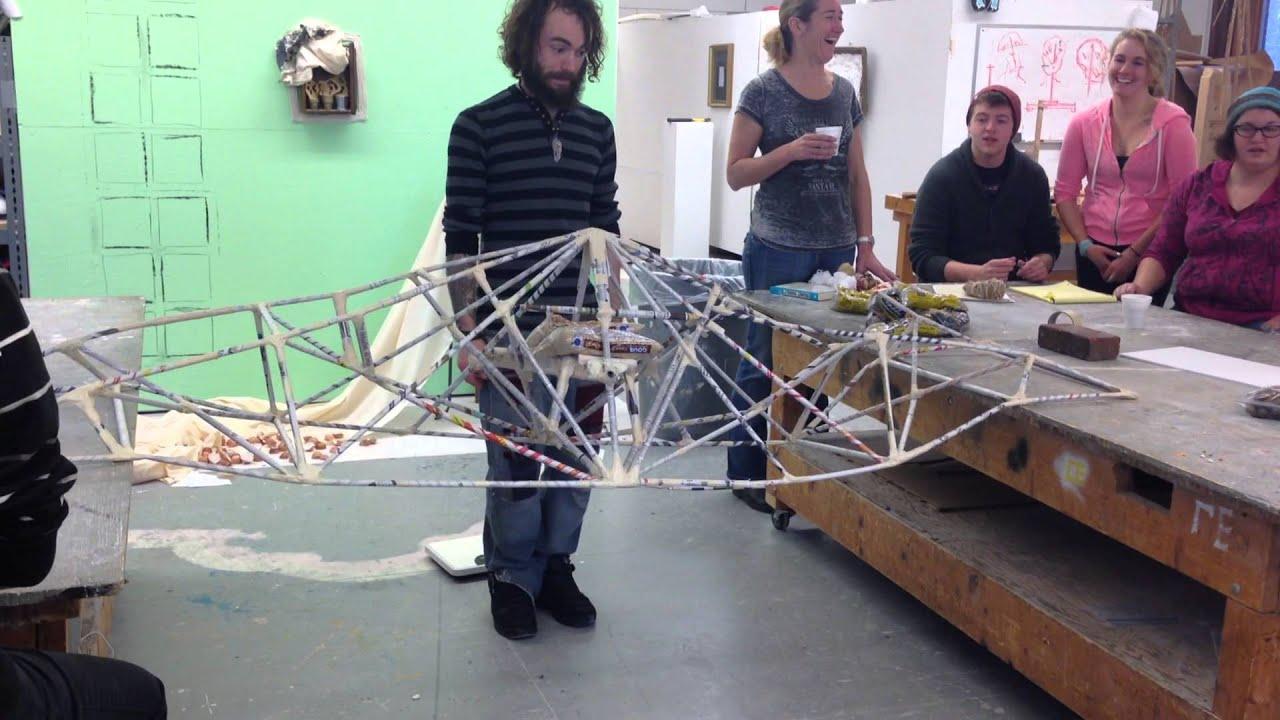 Team Building Paper Bridge