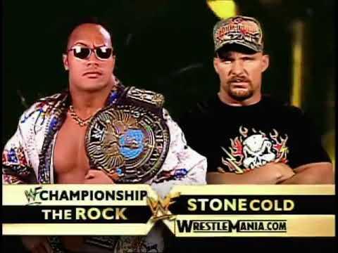 The Rock Vs Stone Cold WWF title match wrestlemania 17 promo