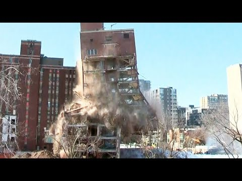 Montreal's old children's hospital pulled down