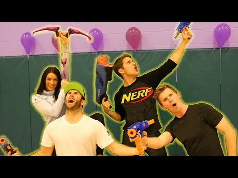 NERF Trick Shot War vs. Brodie Smith & Kelsey