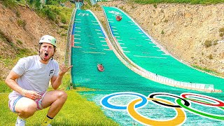 Riding Down Worlds Fastest Slide 70MPH