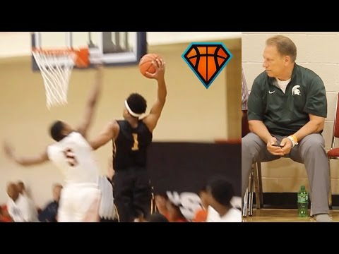 Spartan Commit Miles Bridges SHOWS OUT In Front Of Coach Izzo!!   Crushes 5 Dunks In One Game