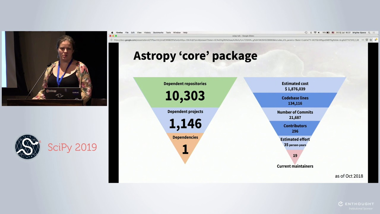 Image from Astropy Beyond Astronomy: Infrastructure of an Open Source Ecosystem