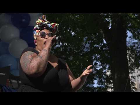 Frenchie Davis Sings at AIDS Walk New York 2017