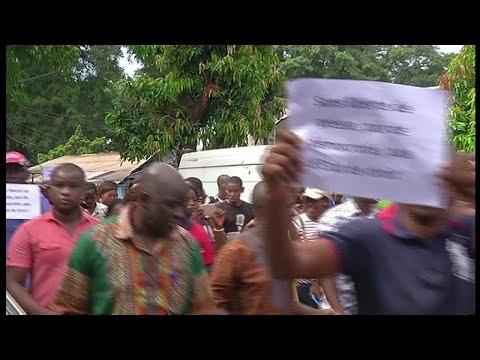 Guinée, MANIFESTATION DES JOURNALISTES A CONAKRY