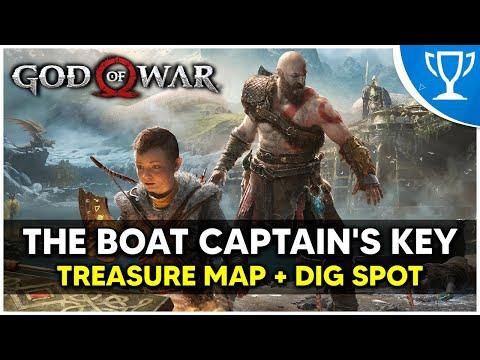 God Of War - The Boat Captain's Key Treasure Map + Dig Spot Locations