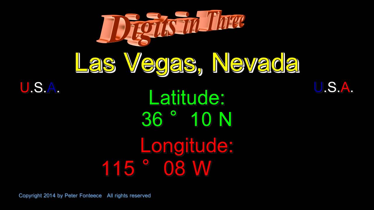 las vegas nevada latitude and longitude digits in three youtube youtube
