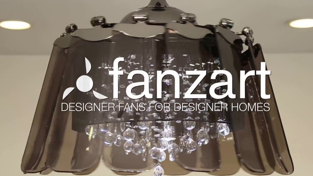 Venetian Black | Fanzart | Fandelier, Crystal Ceiling Fan ...