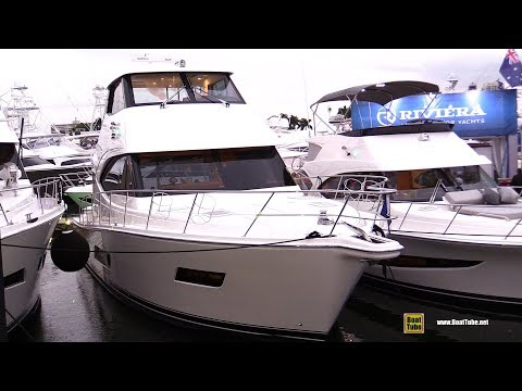 2019 Riviera 52 Enclosed Flybridge Yacht - Deck Interior Walkaround - 2018 Fort Lauderdale Boat Show