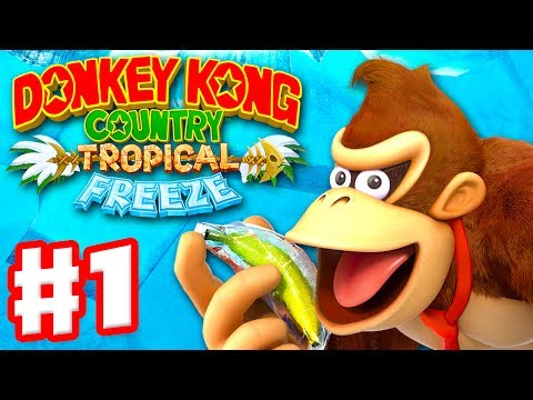 Download Youtube: Donkey Kong Country: Tropical Freeze - Gameplay Walkthrough Part 1 - World 1: Lost Mangroves 100%