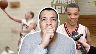 Reacting to my old high school basketball highlights!!