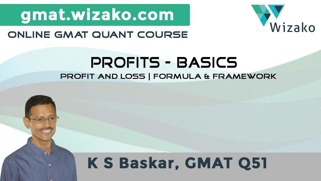 GMAT Profits, Discounts Lesson #1  | Percent Profit & Loss | Definition & Formulas